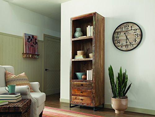 Coaster Home Furnishings 3-Drawer Tall Open Bookcase Reclaimed Wood For Sale