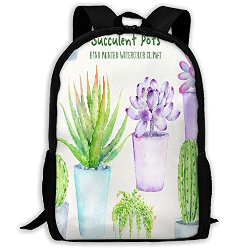 Backpack Succulent Pots Mens School Campus Backpack Stylish Gift