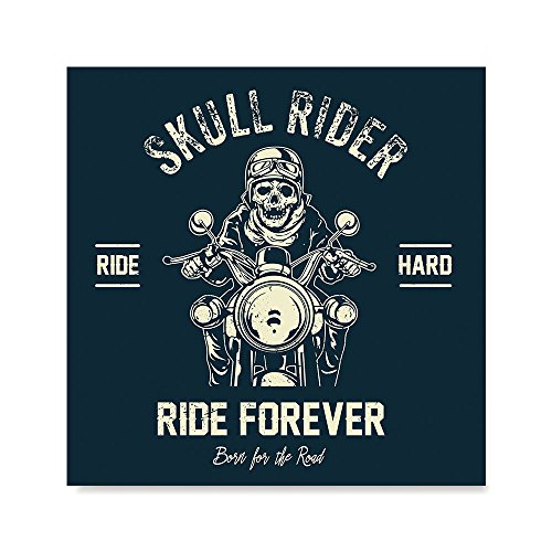 EzPosterPrints - American Legends Skull Bikers Race Riders - Poster Printing - Wall Art Print for Home Office Decor - Ride Hard - 12X12 inches