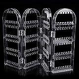 Liobaba Transparent Multifunctional Plastic Folding Screen Earring Jewelry Display Stand Holder Rack Storage Box Jewelry
