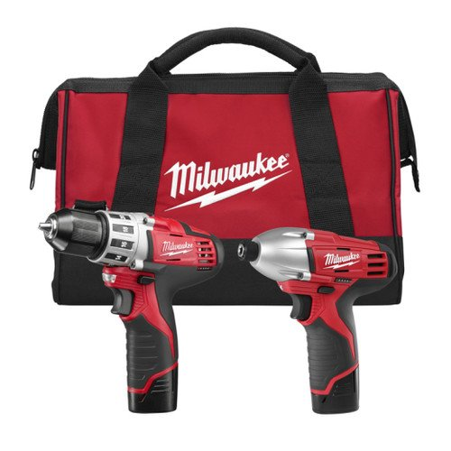 Factory-Reconditioned Milwaukee 2494-82 12V Cordless M12 Lithium-Ion 2-Tool Combo Kit