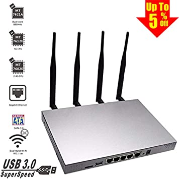 Industrial Openwrt 300Mbps 2.4GHz Wireless WiFi Router /& AP 4*LAN Ethernet Port