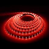 LE 16.4ft Flexible LED Light Strip, 300 Units SMD 2835 LED, Red, Non-waterproof, 12V, LED Tape, LED Ribbon, DIY Indoor Party Christmas Holiday Celebration Home Kitchen Car Bar Decoration