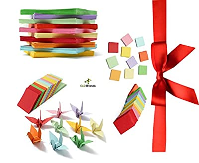 CLD Brands Premium Origami Fun Kit - Bonus DIY Origami Designs eBook - 1140 Colorful Sheets Assorted in 3 Different Sizes - Art and Crafts - Educational Fun