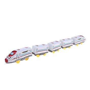 Baoblaze Juguetes Tren con Carros Funciona con Pilas Regalo ...