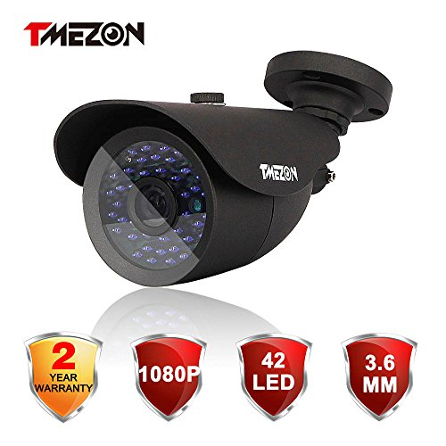 TMEZON HD-TVI 1080P Camera 2.0MP Megapixel SONY Sensor Outdoor Bullet Camera 3.6mm Indoor/Outdoor Infrared IR 42IR Lens Only Work with HD-TVI DVR