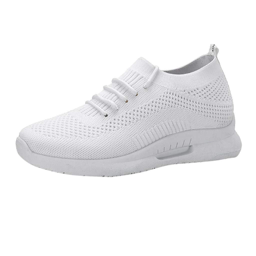 WOZOW Sneakers Respirants en Mesh pour Dames, Chaussures De Sport, Chaussures De...