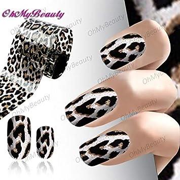 Amazon com: Stickers & Decals - Fashion Nail Art Leopard