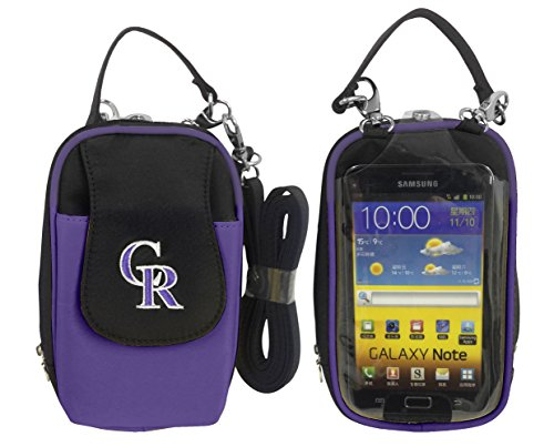 (MLB Colorado Rockies Crossbody Cell Phone Purse XL -Fits All Phones )