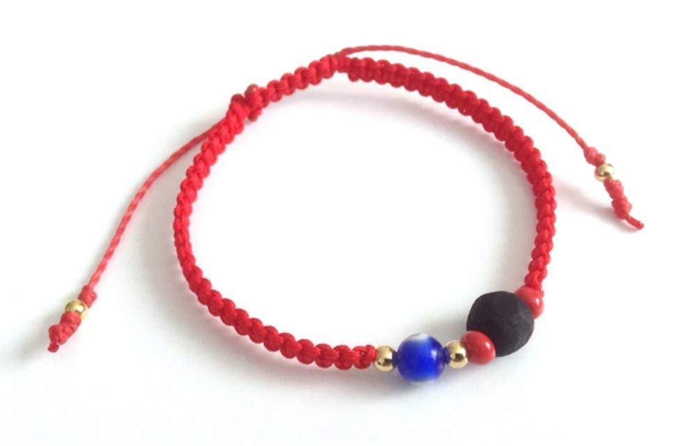 Red String Protection Bracelet Evil Eye Genuine Azabache Pulsera para el Mal de Ojo