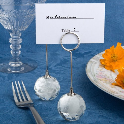 64 Clear Crystal Ball Place Card Holders by Fashioncraft (Image #1)