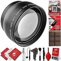 Opteka 2.2x High Definition AF Telephoto Lens for Canon Digital SLR Cameras 80D, 77D, 70D, 60D, 7D, T7i, 7D Mark II, T6s, T6i, T6, T5i, T5, T4i, T3i, T3, SL1 & SL2
