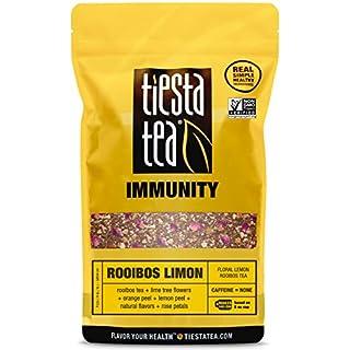 Tiesta Tea Rooibos Limon, Floral Lemon Rooibos Tea, 200 Servings 1 Lb Bag, Caffeine Free, Loose Leaf Herbal Tea Immunity Blend, Non-GMO