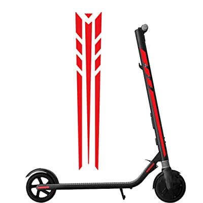 Yifant Reflactive Sticker Set for Ninebot ES1 ES2 ES3 ES4 Electric Scooter Accessories (Red) : Sports & Outdoors