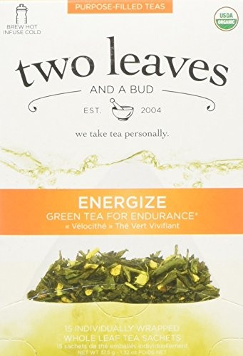 TWO LEAVES AND A BUD Organic Energize Tea 15 Bag, 0.02 Pound Review