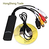 Generic New USB 2.0 Easycap Dc60 Tv Dvd Vhs Video Adapter Capture Card Audio Av Capture Support Win Xp/ Win 7/ Vista 32