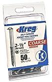 Kreg SML-C250-50 2-1/2-Inch #8 Coarse Washer-Head Pocket Screws, 50 Count