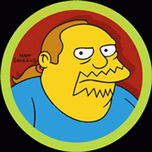 (Hot Properties Simpsons Comic Book Guy Button)