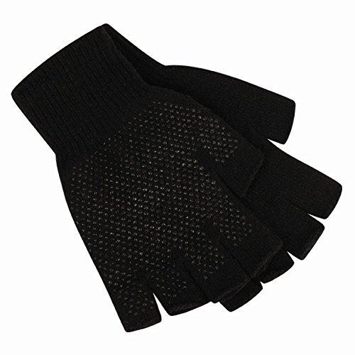 Mens Fingerless Gripper Gloves