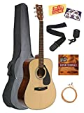 Yamaha Acoustic Guitar Bundle with Gig Bag, Tuner, Strap, Strings, Austin Bazaar Instructional DVD, Picks, and Polishing Cloth - Natural