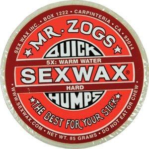 Quick Humps 5x Red - Hard - Single Bar Surf Wax - Single Bar Wax
