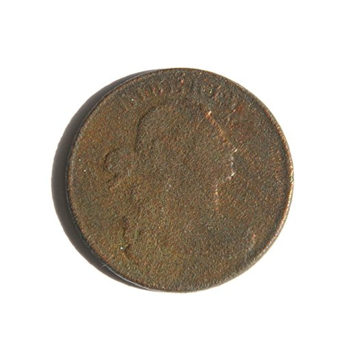 1796-1807 United States of America 1 Cent Draped Bust Cent Unreadable Date Coin Good Details