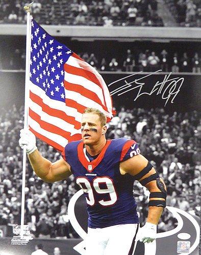 J.J. Watt Signed 16x20 Photo Houston Texans Flag - JSA Authentication -  Football Collectible 731ab6e48