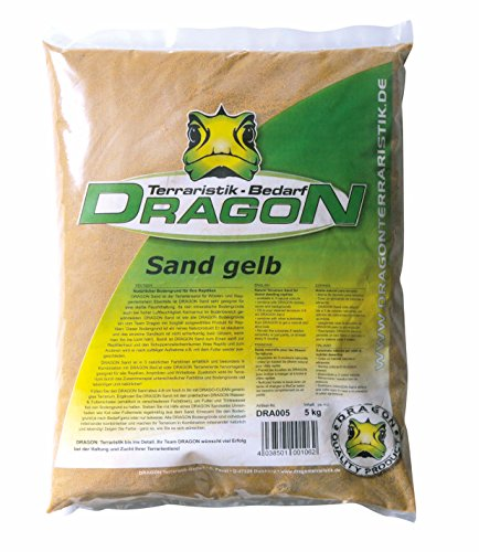 Terrariensand Farbe Gelb - staubfrei - auch für Aquarien geeignet 5Kg