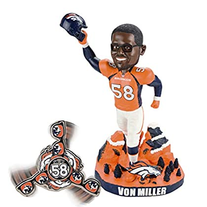 Image of FOCO NFL Denver Broncos Exclusive Opening Bobble, Team Color, OS