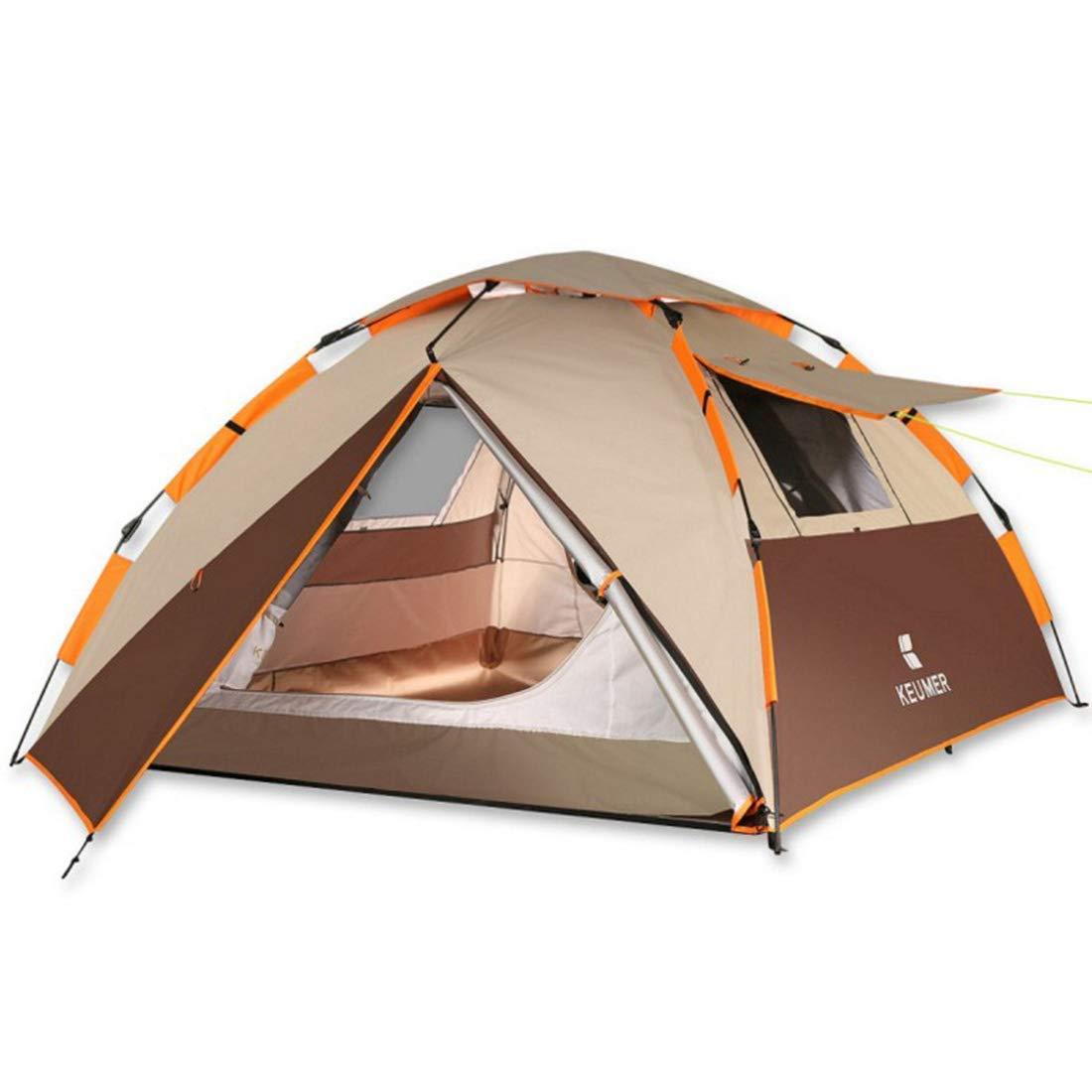 人気ブランド テント、3-4人の屋外の雨キャンプのテント (色、3色で利用できる (色 Brown) : : Brown) Brown B07P4M1635, ricasa:e82d444d --- ciadaterra.com