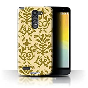 STUFF4 Phone Case / Cover for LG L Bello/D331 / Yellow Design / Scroll Pattern Collection