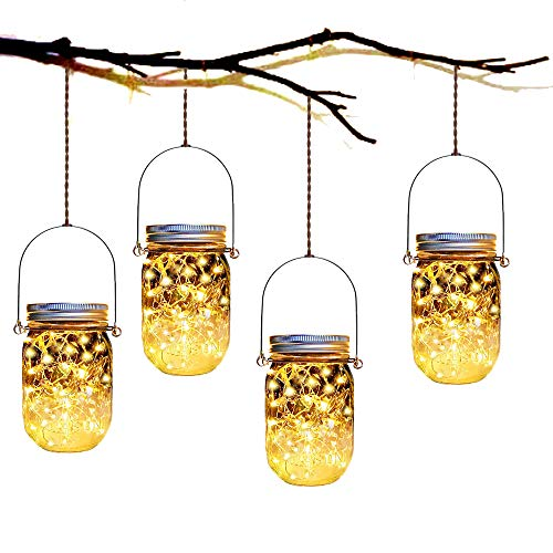 4 Pack Solar Mason Jar Lights Mason Jar Solar 10 Led