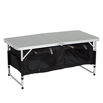2159cdd84d7 Eurohike Basecamp Storage Table, Silver, One Size: Amazon.co.uk ...