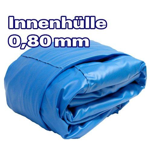 Ø 5,00m | Tiefe 1,20m | Poolinnenfolie mit KEILBIESE | 0,8mm Stärke | Ersatzfolie - Poolfolie - Innenfolie - Innenhülle für Pool