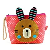 EYX Formula New Cute Romane Cartoon Purse Dot Cotton Coin Wallet Purse, Lovely Animal Cosmetic bag cion purse with Bomian insert for Girls