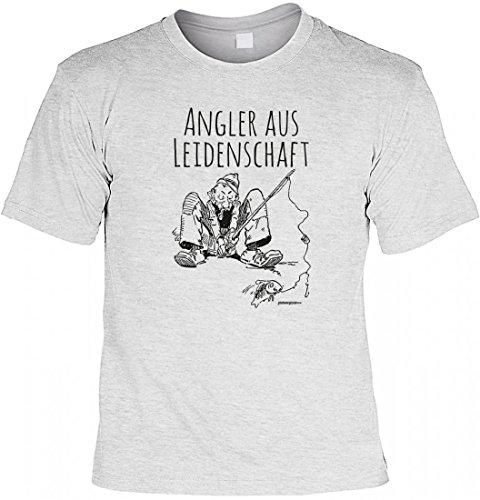 T-Shirt Funshirt - Angler aus Leidenschaft - witziges Spruchshirt als Geschenk für Angler und Fans des Angelsports, Größe:3XL