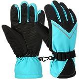 Vbiger Kids Ski Gloves Anti-Slip Winter Warm Gloves Windproof Sports Gloves