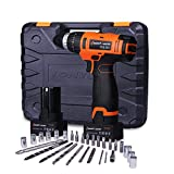 Lomvum LY-8724ST 24-Volt MAX Lithium-Ion Compact Cordless Hammer Impact Driver-Drill Kit with Screwdriver Bit Sets(2 Batteries)