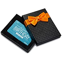 Amazon.ca $25 Gift Card in a Black Gift Box (Birthday Icons Card Design)