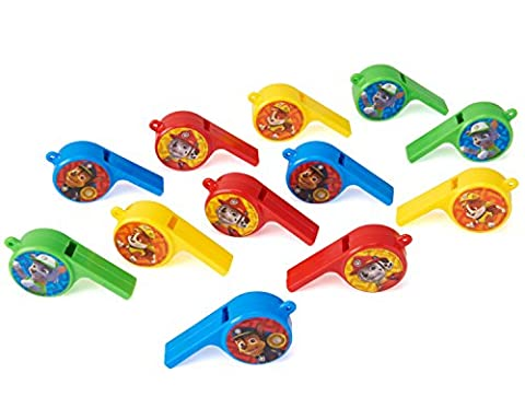 American Greetings Paw Patrol Whistles (12 Count) (Dazzle Them With Grace)