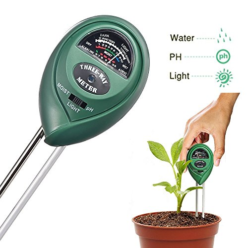 Soil Tester 3-in-1 Soil Moisture Meter Garden pH Meter Tester for Plants Indoor Outdoor Easy Read Indicator