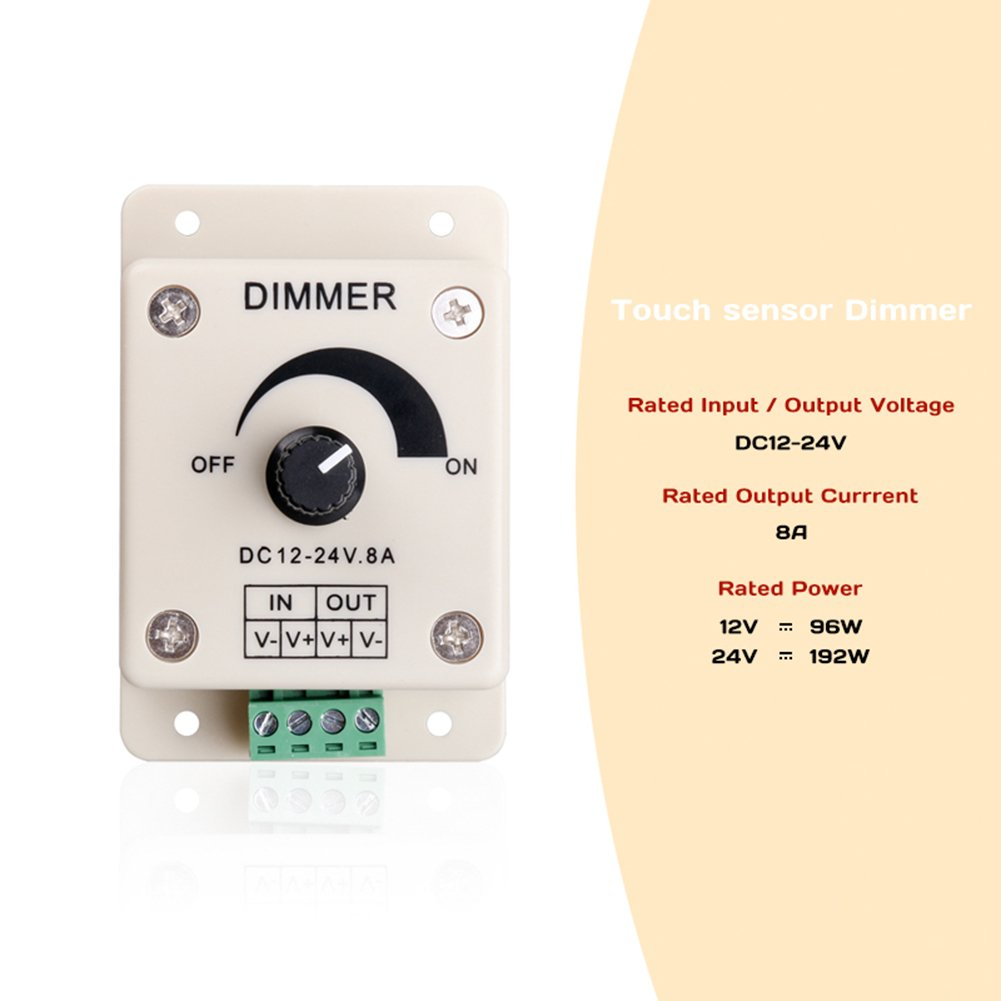 2pcs Dimmer Switch Led Strip Lighting Control Dimmable Drive For Bulbs Brightness Light Adjustment 12v New 8a Knob Jifengcheng
