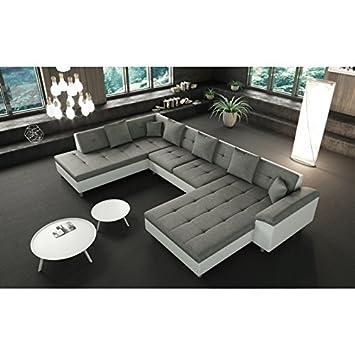 Tendencio sofá en L, angulo panorámico XXL izquierdo, gris ...