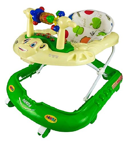 Goyal's Monkey Baby Walker - Music & Light Function With Adjustable Height (Green)