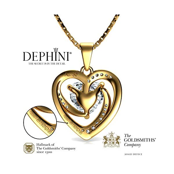 DEPHINI – Collar de oro de 18 quilates para mujer, colgante de corazón amarillo, joyería fina, cristales de circonita… DEPHINI – Collar de oro de 18 quilates para mujer, colgante de corazón amarillo, joyería fina, cristales de circonita… DEPHINI – Collar de oro de 18 quilates para mujer, colgante de corazón amarillo, joyería fina, cristales de circonita…