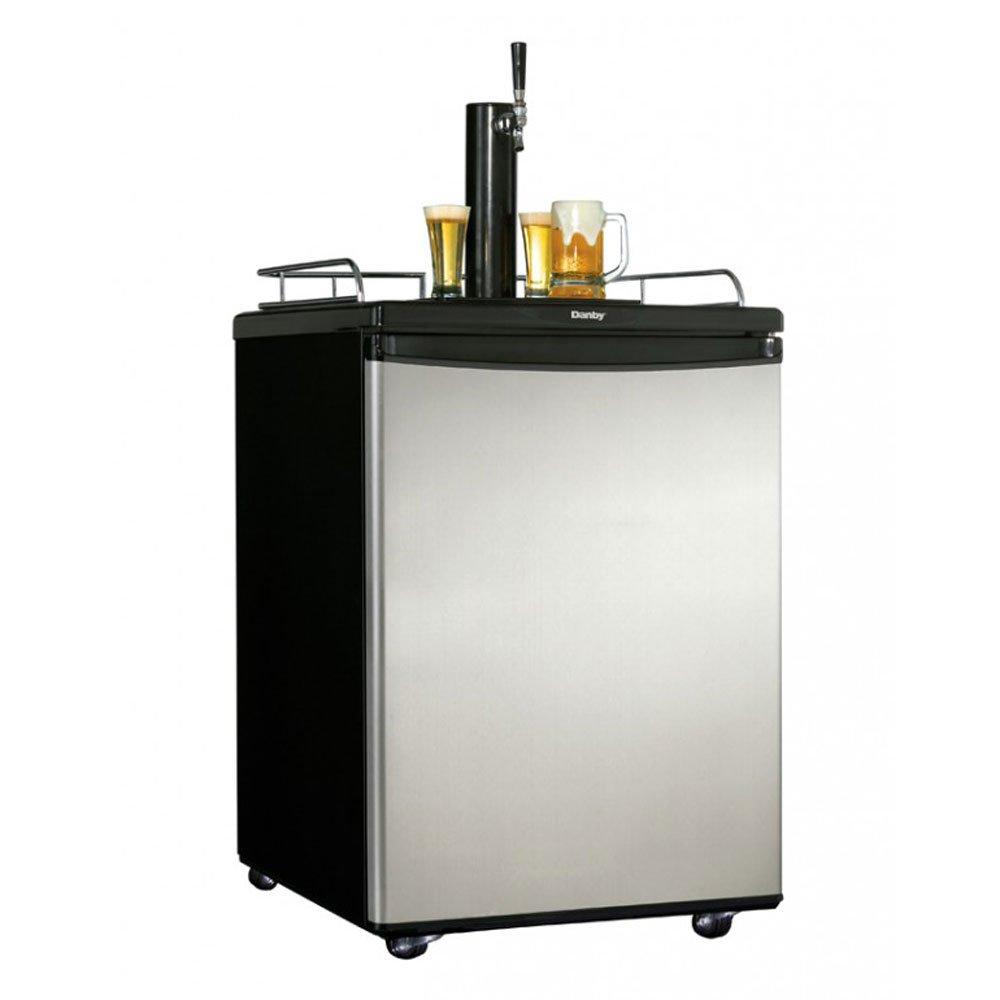 Danby Chill'n Tap 5.4 Cubic Foot Full Keg Home Beer Fridge Dispenser Kegerator