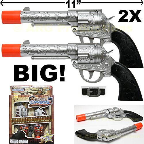 Pretend PlayTexas Cowboy Western Pistols w Holster Belt