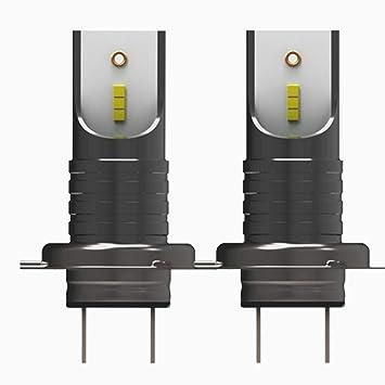 H7 Bombillas LED Faros Angel Eyes 110W 26000LM LED Coche Luces Kits De Conversión Reemplazar Para Halógeno O HID Bombillas, 2Pcs: Amazon.es: Coche y moto