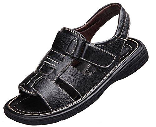 同化できれば読み書きのできないWUIWUIYU  メンズ スポーツ サンダル 紳士靴 つま先保護 耐久性 履き心地良い 柔らかい 滑り止め 通勤靴 ブラック 24.5cm
