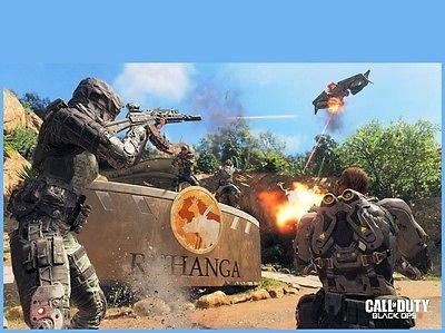 Price comparison product image SDore CALL of DUTY COD Black Ops Xbox One PS4 Birthday 1 / 4 Sheet Image Frosting Cake Topper